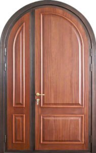 Арочная двустворчатая дверь 2