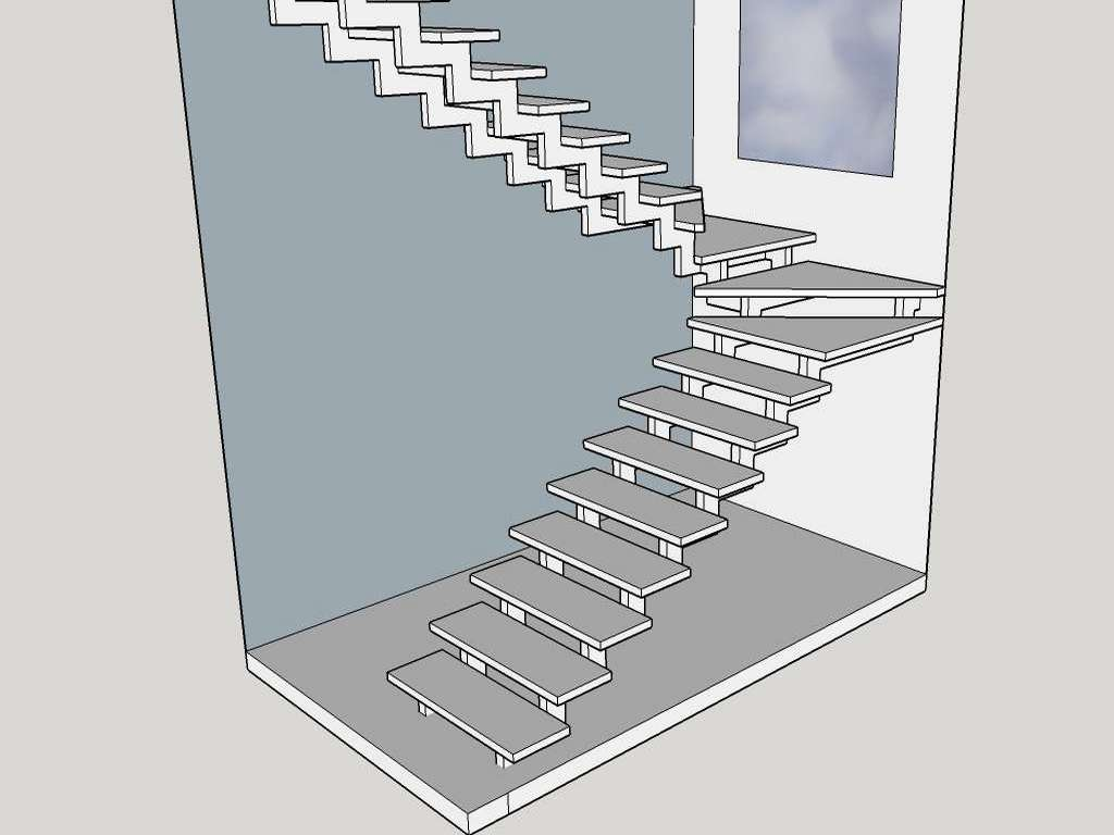 макет лестницы 1