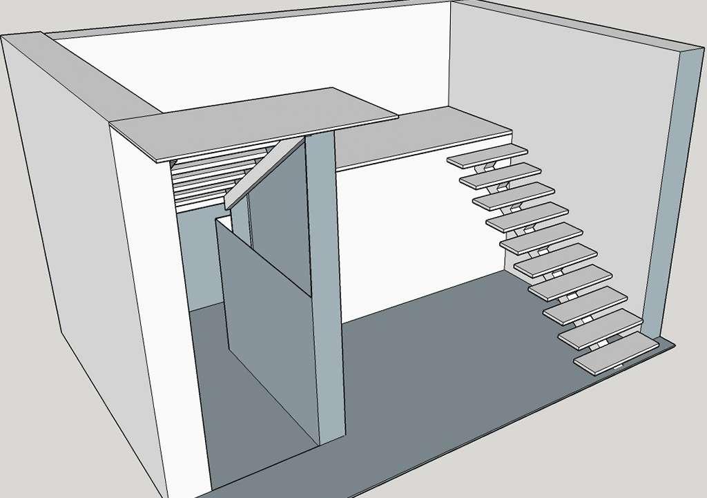 макет лестницы 3
