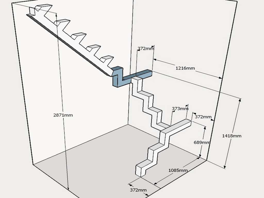 макет лестницы 4